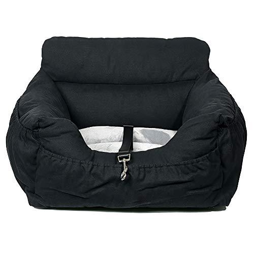 wenyujh 2-in-1 Autositz Bett für Hunde Hundesitz Hundebett wasserfest rutschfest Autokörbchen Hundedecke Hundekorb Sitzerhöhung für Rückbank (55 * 50 * 30, schwarz)