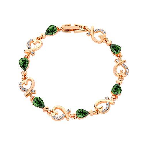 SDCAJA Silver Bracelet for Women,Women Crystal Bracelet Bangle Love Temperament Flower Hollow Diamond Ladies Bracelet For Valentine's Day present