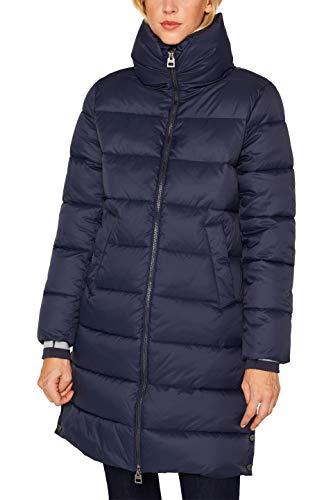 ESPRIT Damen 099Ee1G026 Mantel, Blau (Navy 400), Small (Herstellergröße: S)