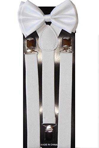 Kids World Of Toys-Men's Suspendersbow Rotule réglable - Blanc - Taille unique
