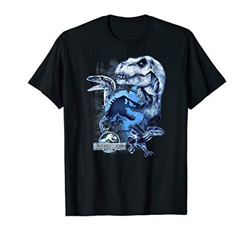 Jurassic World 2 Blue Shading Dinos Shred Graphic T-Shirt