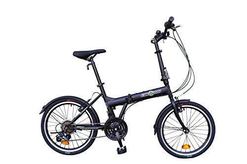 ECOSMO 20' Folding City Bicycle Bike 21SP - 20F03BL