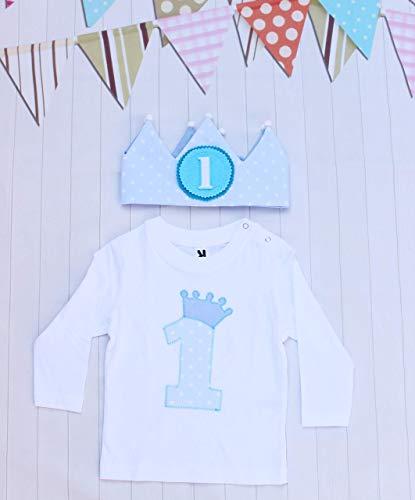 Camiseta y corona de cumpleaños para bebés niños regalo primer cumpleaños