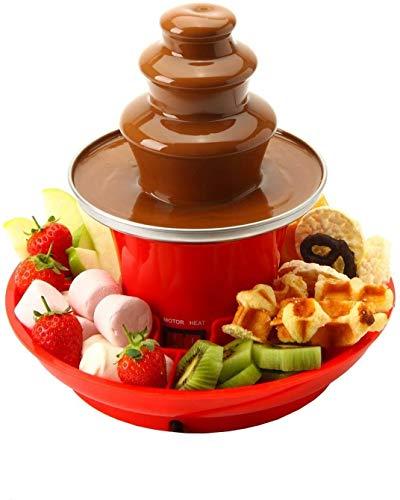 Global Gourmet Chocolade Fontein Mini Fondue Set Met Party Dienblad Inbegrepen |Elektrische 3-laags machine met Hot Melting Pot Base |Warmhoudfunctie