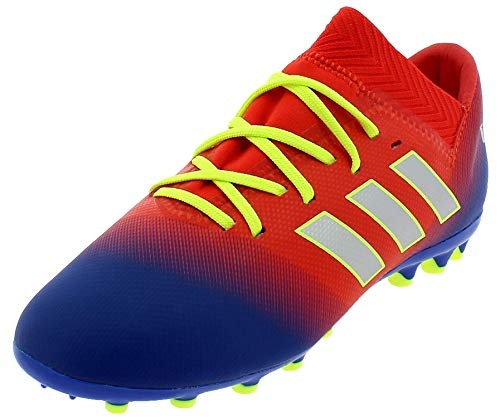 adidas Nemeziz Messi 18.3 AG J, Botas de fútbol Unisex para Niños, (Rojact/Plamet/Fooblu 000), 38 EU ✅