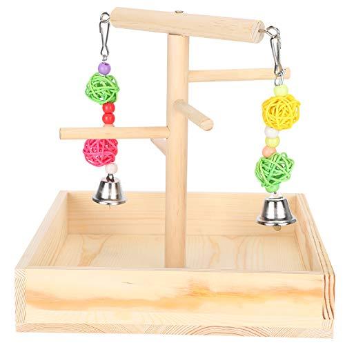 Zerodis Vogelspielständer, Papageienspielständer Papageienholzspielplatz Bird Athletic Toy Stand mit Spielzeug Übungsspiel für kleine Sittiche