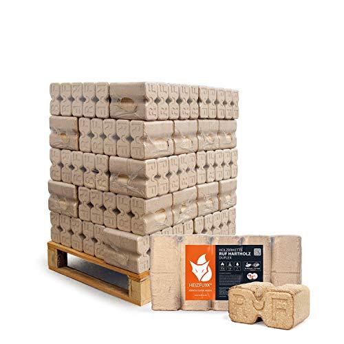 HEIZFUXX Holzbriketts Hartholz Ruf Duplex Kamin Ofen Brenn Holz Heiz Brikett 10kg x 30 Gebinde 300kg / 1 Palette Paligo