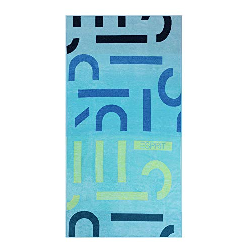 ESPRIT Strandtuch Letter Beach   002 Ocean Blue - 100 x 180