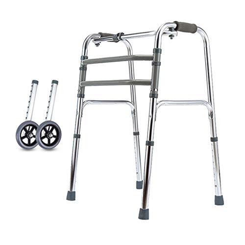 OUG-Caminante anciano Andador Multifuncional, Andador asistido para discapacitados de Edad Avanzada, Andador Plegable, Robusto Material de Marco de Aluminio, Adecuado para Salir