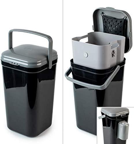 PetFusion Portable Outdoor Pet Waste Disposal. Innovative Dog Waste Station with Locking Handle, Universal Dog Poop Bag Holder, Complimentary Deodorizer & 5 Waste Bags Incl. 12 Month Warranty
