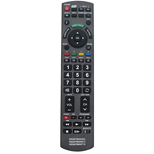 VINABTY N2QAYB000715 Fernbedienung Ersetzt für Panasonic TV TX-L42DT50Y TX-L42ET50B TX-L42ETW50 TX-L42WT50E TX-L47DT50B TX-L47ET50B TX-L47ETW50 TX-L47WT50T TX-L55DT50Y TX-LR42DT50 TX-LR47WT50