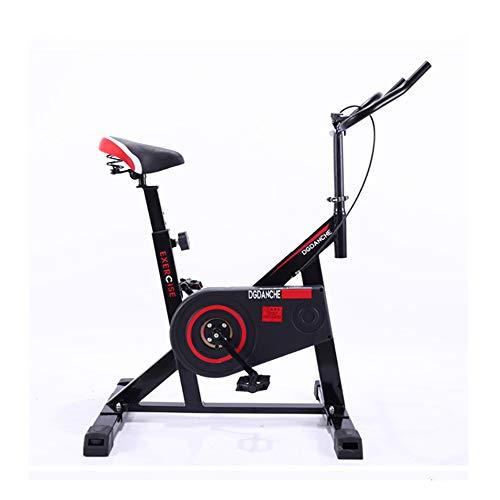 QWET Indoor Cycling Bike mit Schwungrad, Heimtrainer, verstellbares Fitnessbike für das Home Cardio Workout,Schwarz