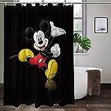 WOMFUI All New Fabric Shower Curtain Set Disney Bath Shower Curtains Cartoon for Bathroom Decor with Hooks