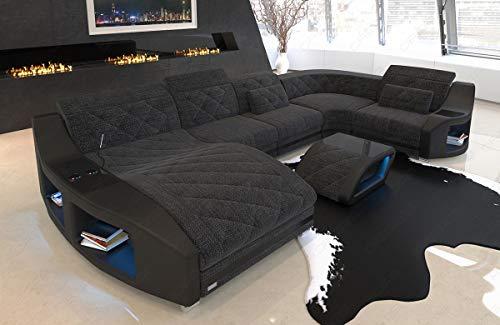 Sofa Dreams Polster Wohnlandschaft Swing U Form mit Recamiere