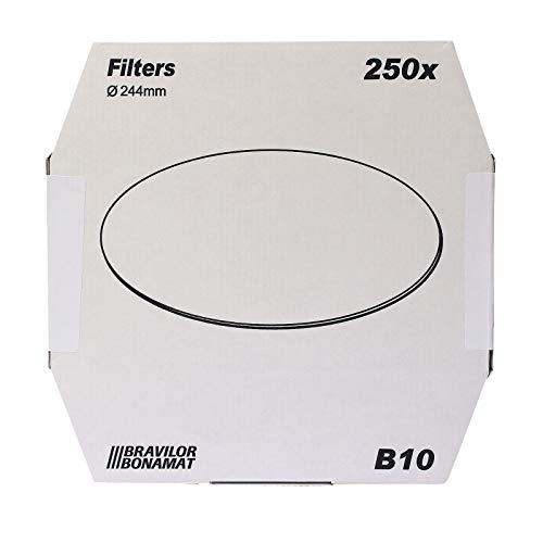 Bonamat Bravilor B10 Flachfilter Original 244 mm, 250 Stk, Kaffeefilter