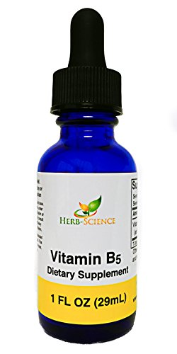 Vitamin B5 Pantothenic Acid, Alcohol-Free Liquid Extract Maintain Healthy Hormones, Support Heart Health, Help Keep Skin and Hair Healthy and Support Immune System - Herb-Science