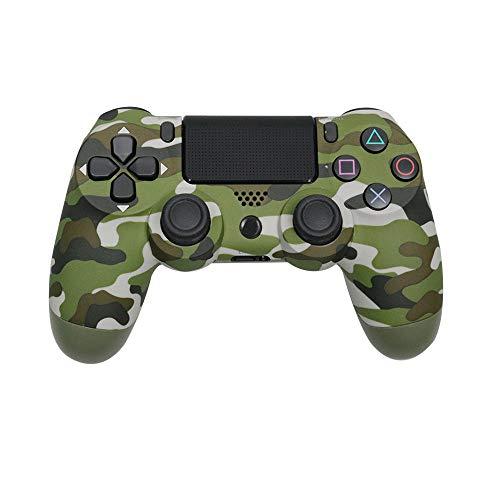 YUNVJIG Wireless-Game-Controller, Controller für PS4 Bluetooth 4.0, PS4 Vier Generationen Schwingungsrückkopplung angewendet -Tarngrün