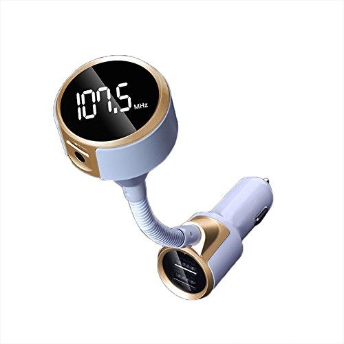 zreal Bluetooth Car Kit mains libres sans fil Musique Transmetteur FM Dual Chargeur USB Adaptateur Kit #1