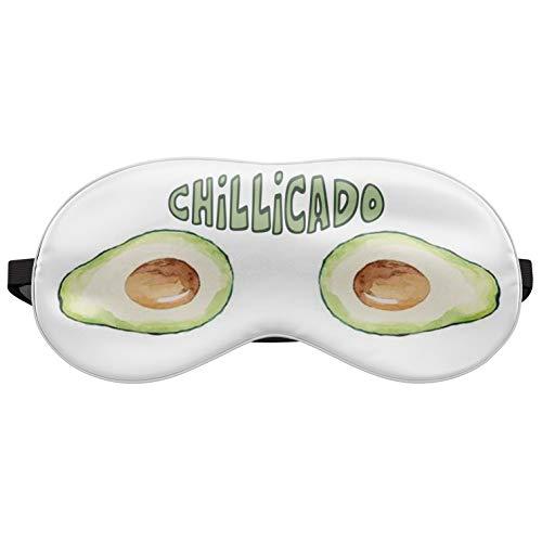 Schlafmaske Reise Relax Augen Abdeckung Bett Emoji Nickerchen Augenbinde Seine Gelb Grün Chillicado [042]