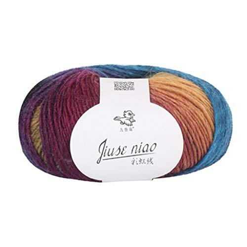 HSKB - Juego de ovillos de lana para tejer a mano, hilo acrílico para ganchillo y manualidades, para hacer bufandas, suéteres, Madera, K, small
