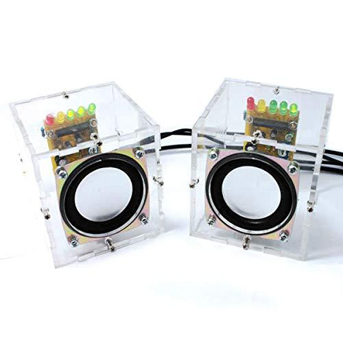 KASILU Dlb0109 DIY GAURY MINITILDIR Amplificador Kit DE Altavoz 65X65X70MM 3W por Canal Alto Rendimiento