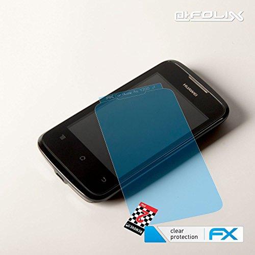 atFolix Schutzfolie kompatibel mit Huawei Ascend Y200 Folie, ultraklare FX Displayschutzfolie (3X) - 4