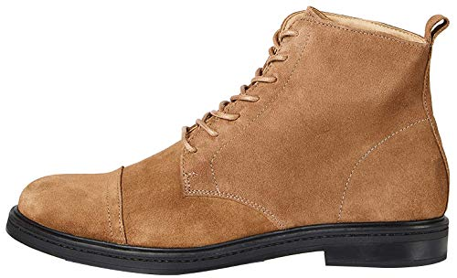 find. Lace Up Leather Klassische Stiefel, Braun (Brown Taupe), 47 EU