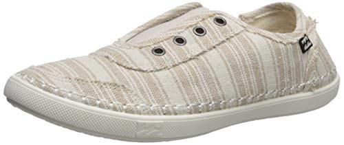 Billabong Women's Cruiser Slip-On Canvas Shoe Sneaker, Natural, 10 M US