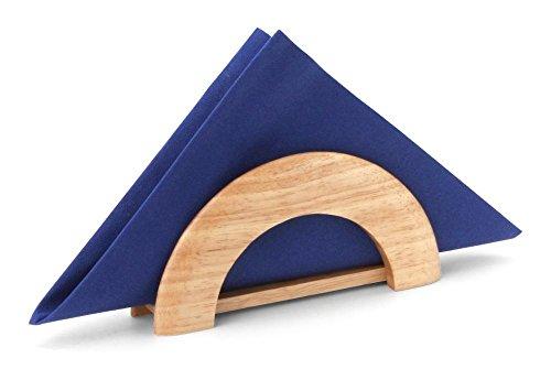Continenta Serviettenhalter aus Gummibaumholz, Serviettenständer, Größe: 18 x 8,5 x 4,5 cm