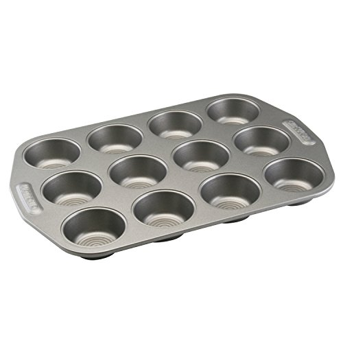 Circulon Total Nonstick 12-Cup Muffin Tin / Nonstick 12-Cup Cupcake Tin - 12 Cup, Gray