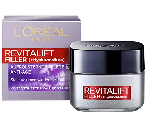 L'Oréal Paris Hyaluron Tagespflege, Revitalift Filler, Anti-Aging Gesichtspflege, Anti-Falten und...
