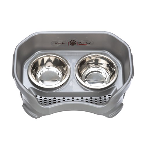 Neater Feeder Deluxe Dog (Small, Gunmetal Grey)
