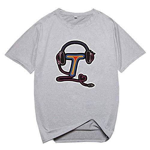 RENDONG Jugend Stücke Kurzarm T Shirt Sommer Beiläufige Musik Fan T Shirt Sport Jogging Yoga Kleidung Paar Wear,C,4XL