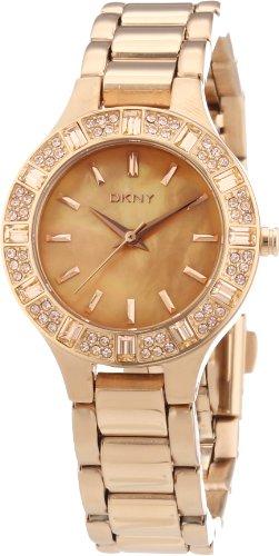 DKNY Damen-Armbanduhr XS Analog Quarz Edelstahl beschichtet NY8486