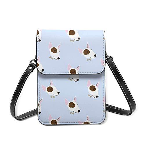 Bonito bolso cruzado para teléfono celular Dapper Bull Terrier ligero para mujer con bolsillos espaciosos