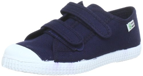 Natural World Unisex Kinder BASQUET Low-top, Blau (Navy), 22 EU