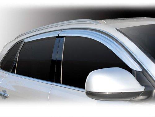 Tuning Zubehör für Audi Q5 2008-2015 Chrom Windabweiser Regenabweiser Safe Window Visor Chrome