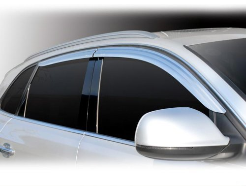 Tuning Zubehör für Audi Q5 2008-2015 Chrom Windabweiser Regenabweiser Safe Window Visor Chrome