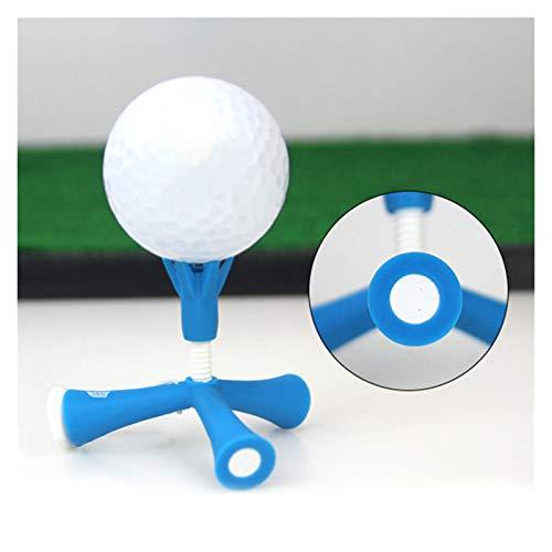 Juan-375 3 piezas accesorios de fácil altura ajustable al aire libre titular de pelota mini golf Tee giratoria trípode ayuda anti-vuelo auto deporte para la práctica (color: azul)
