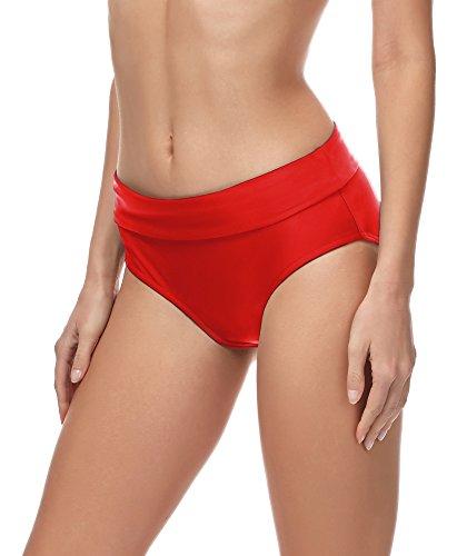 Merry Style Bragas Braguitas de Bikini Parte de Abajo Bikini Trajes de Baño Mujer MSVR5 (Rojo (4186), 38)