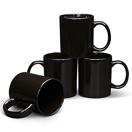 Serami 19oz Black Large Classic Mugs for Coffee or Tea....
