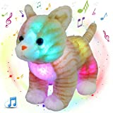 Glow Guards 14'' Light up Musical Realistic Stuffed Cat...