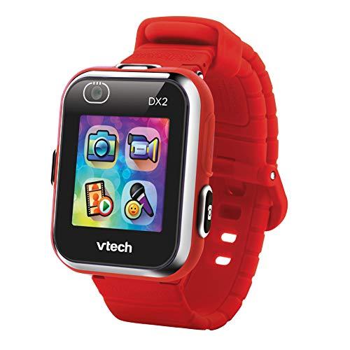 VTech Kidizoom Smart Watch DX2 - Reloj inteligente para niños con doble cámara, color rojo (3480-193827)