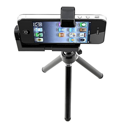 SODIAL(TM) Mini Tr¨¦pied r¨¦glable + Support pour l'appareil photo Pour Iphone et t¨¦l¨¦phone portable