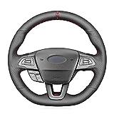 SAXTZDS Cubierta del Volante del Coche, Apto para Ford Focus RS  ST  ST-Line Kuga Ecosport 2015 2016 2017 2018 2019 2020