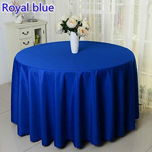TWTIQ 23 Colori Poliestere Tovaglia Tovaglia Tovaglia Tavola Rotonda Decorazione della Tavola Matrimonio Hotel Spettacolo Festa Blu Royal Rotonda 160 Cm