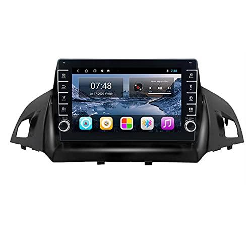 GOHHK 9'Android 10.0 DSP Car Radio Multimedia Video Player Navegación GPS para Ford Kuga 2 Escape 3 2012 2019 BT SWC 2 Unidad De Cabeza DIN(Size:Cuatro nucleos,Color:WiFi:2GB+32GB)
