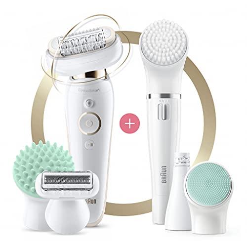Braun Silk-epil 9 Flex 9300 Beauty Set Wet & Dry epilator with 8 extras incl. Braun FaceSpa