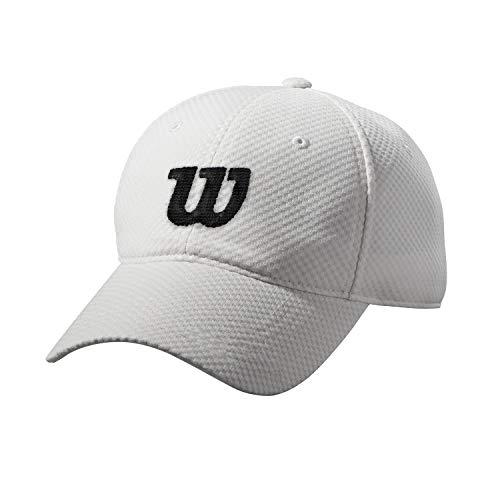Wilson Sommerkappe, Verstellbar, 100 Prozent Mesh-Polyester, Einheitsgröße, weiß/schwarz, WRA770801