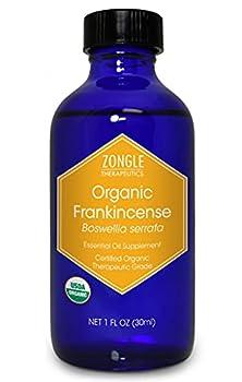 Zongle USDA Certified Organic Frankincense Essential Oil Safe to Ingest Boswellia Serrata 1 OZ